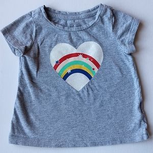 Baby Gap Rainbow Heart T-shirt * Size 12-…